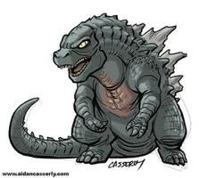 Godzilla 2014 by DadaHyena