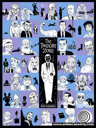 Twilight Zone collage poster by DadaHyena