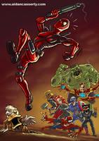 Deadpool vs Marvel Zombies by DadaHyena