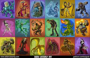Monster Art 2016 by DadaHyena