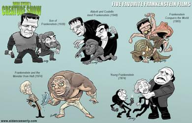 Five Favorite Frankenstein Films by DadaHyena