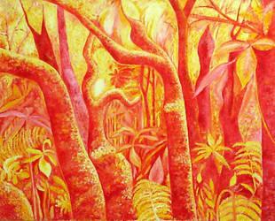 Red Jungle in full sun. by wiewiorka