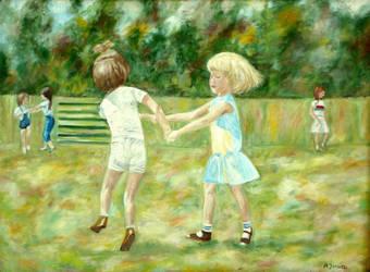 Dancing children by wiewiorka