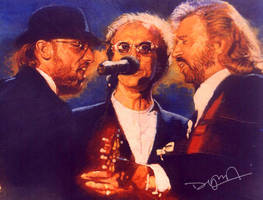 bee gees illustration by dylankok