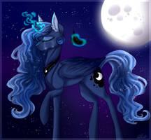 .:Redraw:. Luna's Sorrow by HoloRiot
