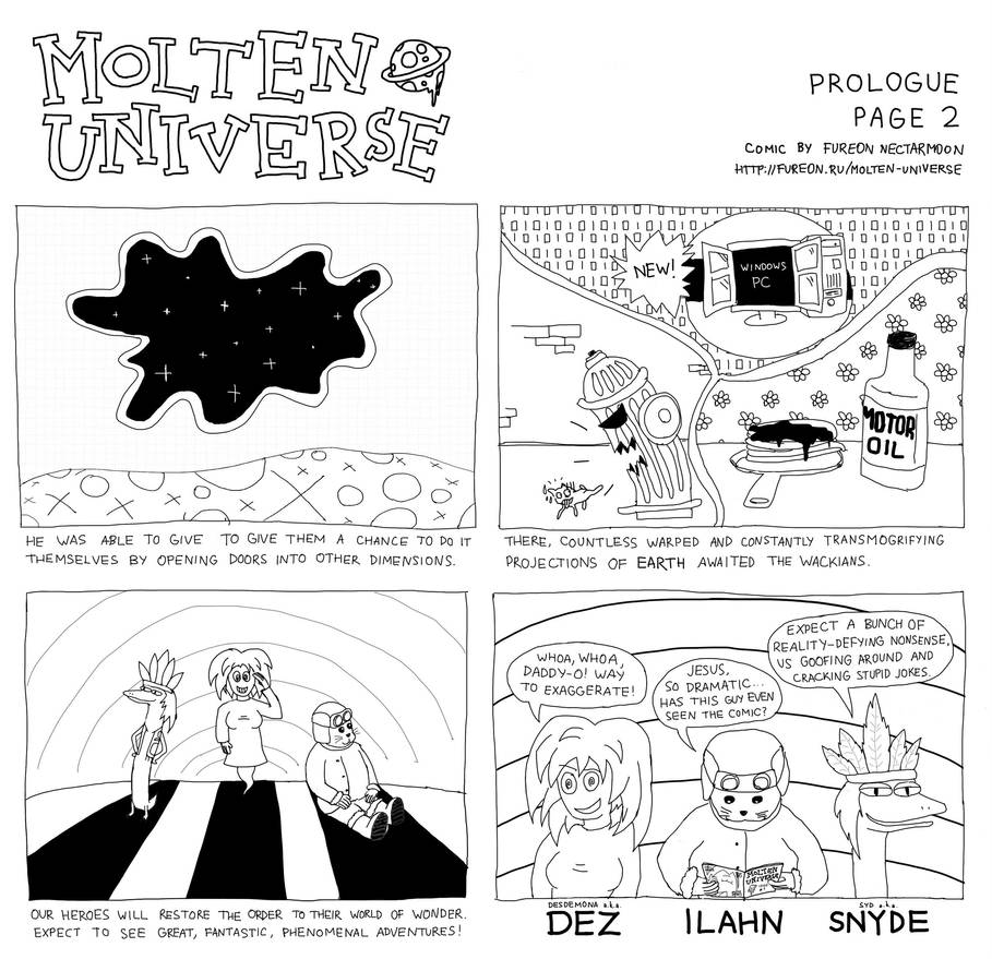 Molten Universe: Prologue, Page 2 by fureon
