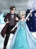 The Doctor Visits Arendelle by Dobermutt