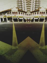 Chinatown Lane, Singapore by blackheartstedot