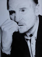 Liam Neeson drawing by megh95