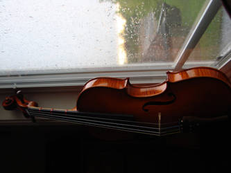 Rain and a violin by Automatism72