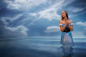 Water Maiden - Calm Sea by Miztliyuma