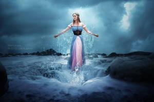 Emerging Water Maiden by Miztliyuma