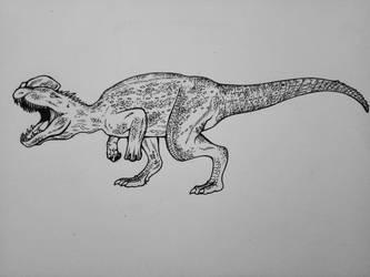 Dilophosaurus by sasukenekosama