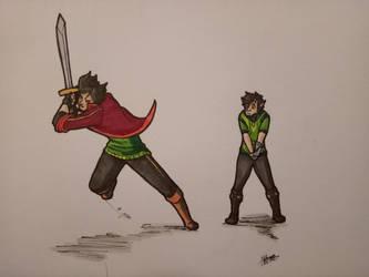 Archer and Zeto by sasukenekosama