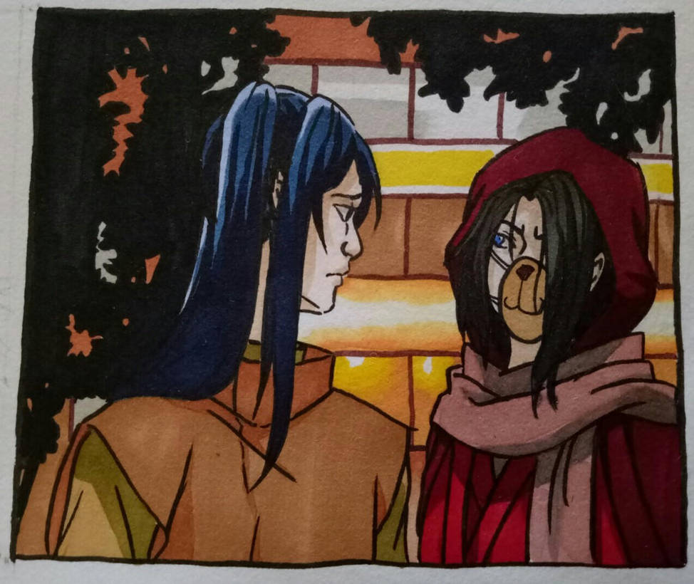 Gozu and Mezu in disguise by sasukenekosama