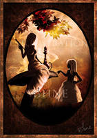 Alice et la Chenille - Alice and the Caterpillar by Mihne-Art