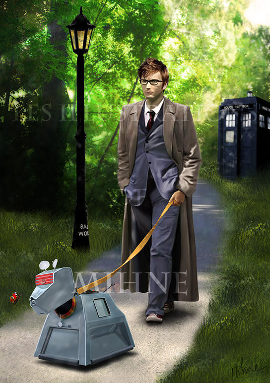 Doctor Who and K9 by Mihne-Art