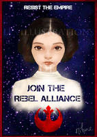 Princess Leia - Join the Rebel Alliance! by Mihne-Art