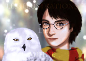 Harry Potter and Hedwige by Mihne-Art