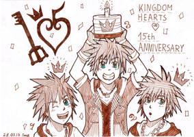 KH 15th Anniversary! by Sora-Noel