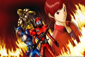 Kamen Rider Accel by Yuuyatails