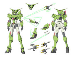 Gundam Aramis ref design by Yuuyatails