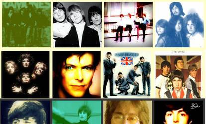 Classic Rock Star Collage. by strawberryxangie