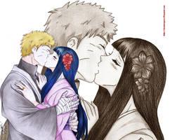 naruto THE LAST -naruto y hinata  kiss by shinamvec
