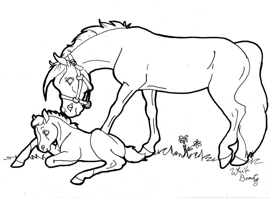 mare and foal lineart by cavelupa on deviantart RE MAX mare and foal lineart by cavelupa