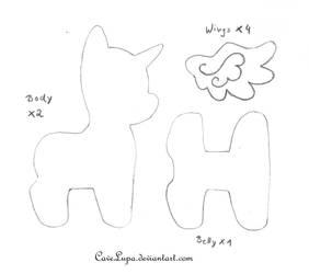 My Little Pony Plush Pattern by CaveLupa