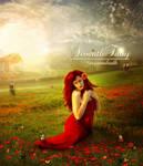 In a Poppy field: by SeventhFairy