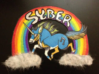 Syber's Happy Unicorn Badge by Ratrinadragon