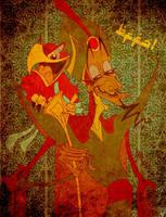 Jafar and Iago: BFFs by JoJo-Seames