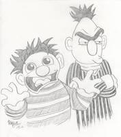 Ernie and Bert by jojoseames