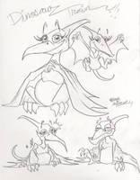 Pteranadon Family by jojoseames