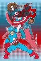 Captain America Captain America Captain America by JoJo-Seames