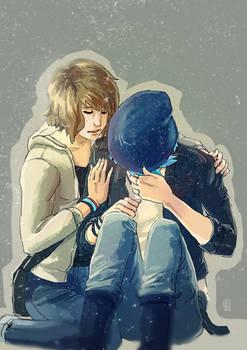 Life is Strange - Max and Chloe hug by Maarika