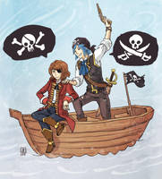 Life is Strange - Max and Chloe pirates by Maarika
