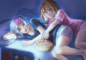 Max and Chloe  - Movie Night by Maarika