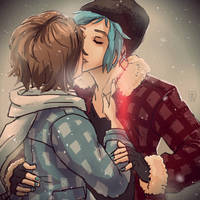 Life Is Strange - Max and Chloe kiss 2 by Maarika