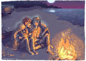 Life is Strange - Max and Chloe - bonfire by Maarika