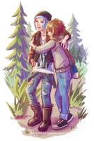 Life is Strange - Max and Chloe - hug 2 by Maarika