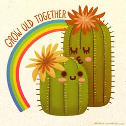 Grow Old Together - Cacti by Maarika