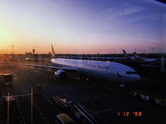 Evening dusk airbus a350-1000 by afl300