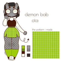demon bab adopt (closed) by CherrieBab