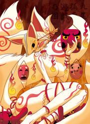 Masked Nine tails and Masks by hi6sho