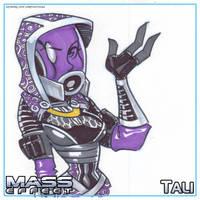 ME Sketch Pad - Tali by LordSantiago