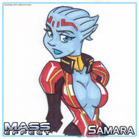 ME Sketch Pad - Samara by LordSantiago