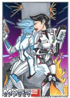 ME2 Liara and Shepard by LordSantiago