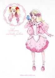 Aurora and lolita fashion by Moon-In-Milk